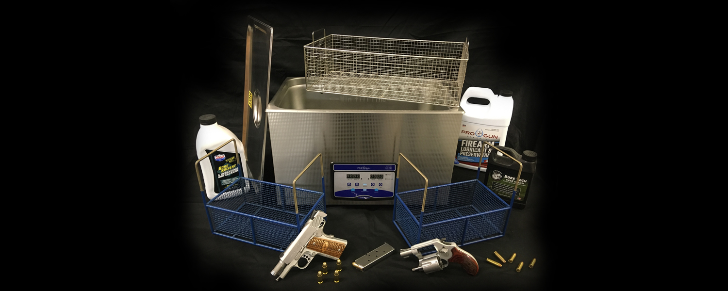Ultrasonic cleaning for guns and accessories