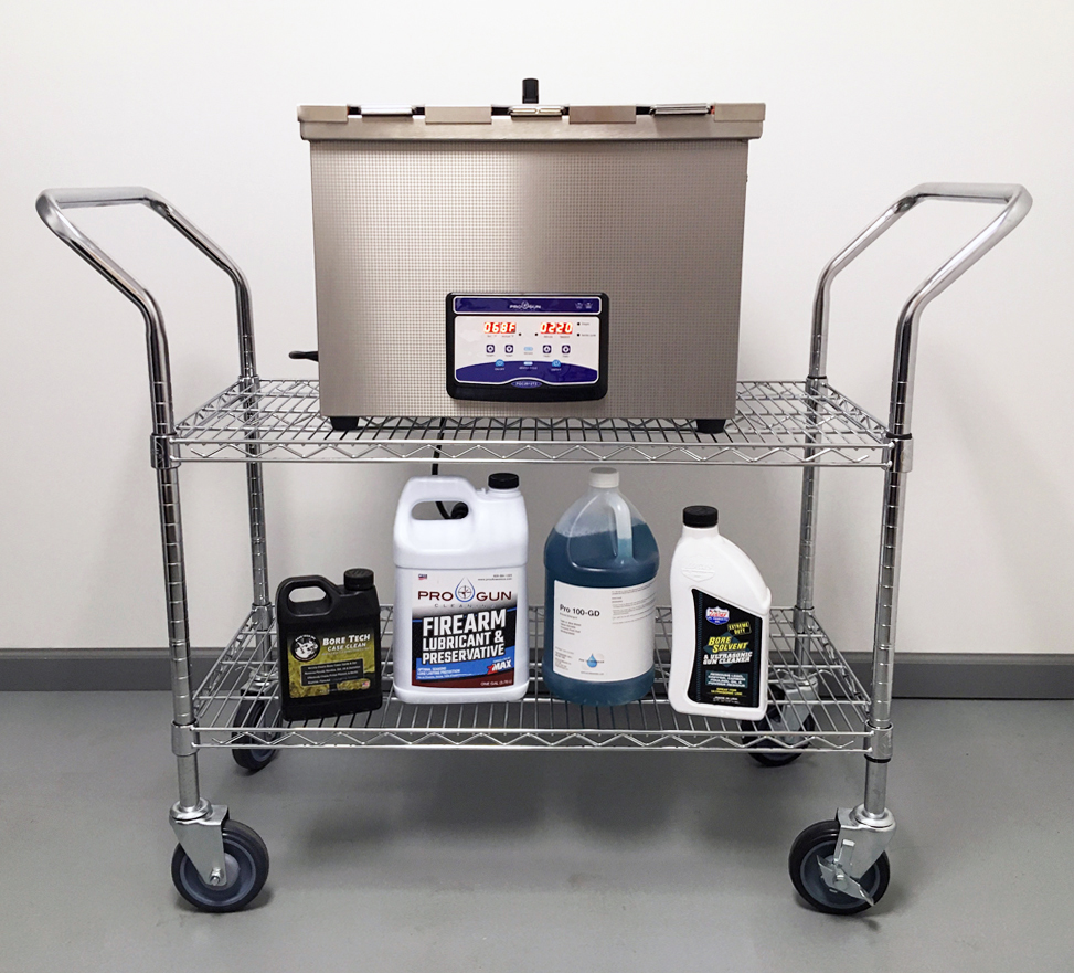 Pro Gun Cleaning mobile workstation